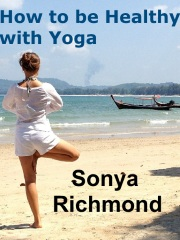 """Image with text """"How to be Healthy with Yoga"""""""