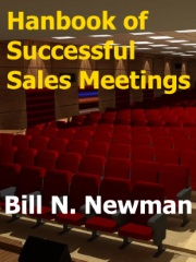 """Image with text """"Handbook of Successful Sales Meetings"""""""